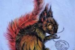 Gogetta rubia e farfalla . 2016 . Penna, matite e inchiostro su carta stropicciata .