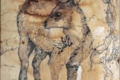 La cova primaverile . ( Aprile è il più crudele dei mesi ) 2012 . Inchiostro su carta anticata .