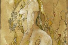 nepente vesperino_2009_inchiostro e olio su carta