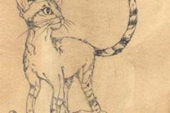 Rinfignino . 2009 . inchiostro su carta anticata