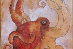 Octopus giocondo - 2009 - Olio e inchiosto su carta