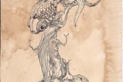 Pescialbero - 2011 - Inchiostro su carta e caffe